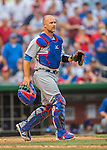 15 June 2016: Chicago Cubs catcher David Ross in action against the Washington Nationals at Nationals Park in Washington, DC. The Cubs fell to the Nationals 5-4 in 12 innings, giving up the rubber match of their 3-game series. Mandatory Credit: Ed Wolfstein Photo *** RAW (NEF) Image File Available ***
