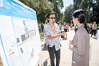 Robert Machuca '20,City Of Hope National Medical Center<br /> 2018 InternLA student participants share their poster presentations about their summer experiences working as interns in Los Angeles. Summer Experience Expo, Sept. 13, 2018 in the Academic Quad. Hosted by Career Services.<br /> (Photo by Marc Campos, Occidental College Photographer)
