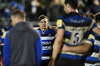 Darren Atkins of Bath United looks on in a post-match huddle. Aviva A-League match, between Bath United and Harlequins A on March 26, 2018 at the Recreation Ground in Bath, England. Photo by: Patrick Khachfe / Onside Images