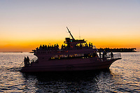 Boats off Mallory Square for the Sunset Celebration, Key West, Florida Keys, Florida USA