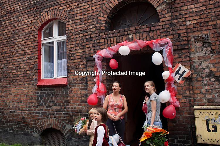 Wedding preparation in Silesia, Poland.