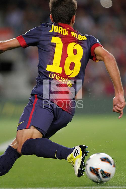 02/09/2012 - Liga Football Spain, FC Barcelona vs. Valencia CF Matchday 3 - Jordi Alba with his new team FC Barcelona against his old team VAlencia CF