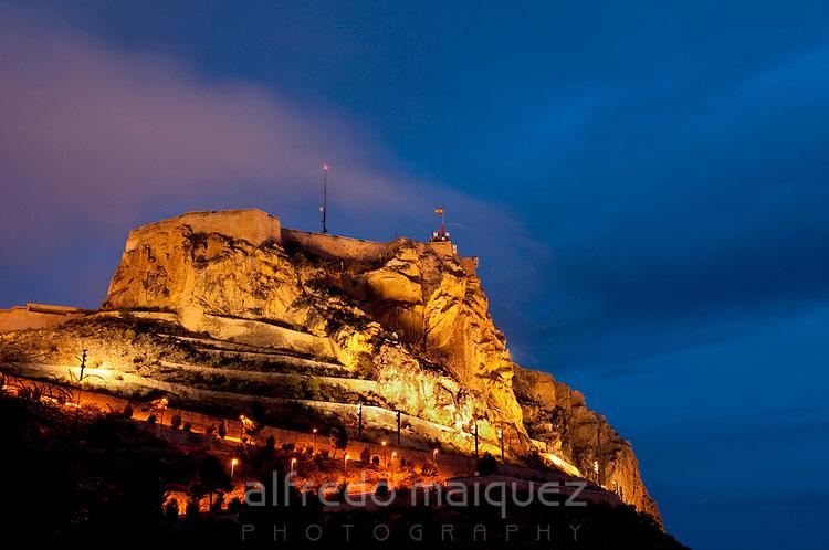 Santa Barbara castle, Alicante city, Spain
