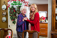The Christmas Spirit (2013)<br /> Olympia Dukakis &amp; Nicollette Sheridan<br /> *Filmstill - Editorial Use Only*<br /> CAP/KFS<br /> Image supplied by Capital Pictures