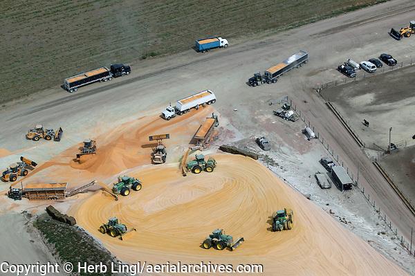 aerial photograph corn grain delivery cattle feedlot Nebraska