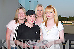 PLACING: Placing their bets on the 9th race at the Kingdom Greyhound Stadium on Friday to raise funds for Coiste Traili, l-r: Karina Daly, Danielle Foley, Clodagh Brosnan and maria Dodson..