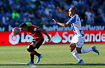 Xisco Campos, player of Mallorca from Spain and CD Leganes's Martin Braithwaite during La Liga match. Oct 26, 2019. (ALTERPHOTOS/Manu R.B.)