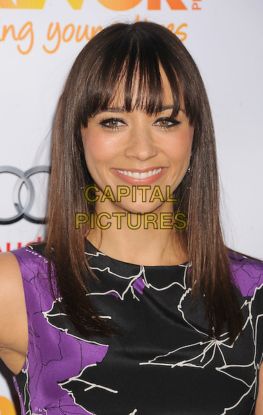 Rashida Jones.Trevor Live at The Hollywood Palladium in Hollywood, California, USA..December 4th, 2011.headshot portrait black purple print sleeveless .CAP/ROT/TM.©Tony Michaels/Roth Stock/Capital Pictures