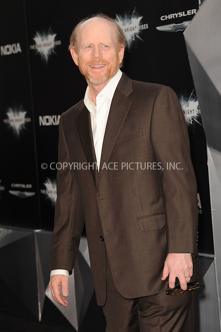 WWW.ACEPIXS.COM . . . . . .July 16, 2012...New York City....Ron Howard attends 'The Dark Knight Rises' New York Premiere at AMC Lincoln Square Theater on July 16, 2012 in New York City ....Please byline: KRISTIN CALLAHAN - ACEPIXS.COM.. . . . . . ..Ace Pictures, Inc: ..tel: (212) 243 8787 or (646) 769 0430..e-mail: info@acepixs.com..web: http://www.acepixs.com .