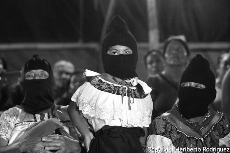 Marichuy Patricio, the spokewoman of the Indigenous Governing Council, stages a rally in the Caracol of Roberto Barrios in the southern state of Chiapas, October 18, 2017. Marichuy started a trip in Chiapas where the Zapatista rebels claim to defeat the political system in Mexico and to govern the country by a Indigenous Council. Photo by Heriberto Rodriguez