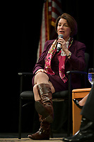 Las Vegas, NV - FEBRUARY 13: Amy Klobuchar Speaking at LULAC Presidential Town Hall at CSN College Of Southern Nevada in Las Vegas, Nevada on February 13, 2020. Credit: Damairs Carter/MediaPunch