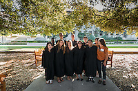 Occidental College's annual convocation for incoming first-years, Aug. 27, 2015. Students walk from the Academic Quad to Thorne Hall while taiko drummers perform. <br /> (Photo by Marc Campos, Occidental College Photographer)