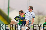Jack Barry Kerry in action against Alan Duggan IT Tralee in the McGrath cup at Austin Stack Park on Sunday.