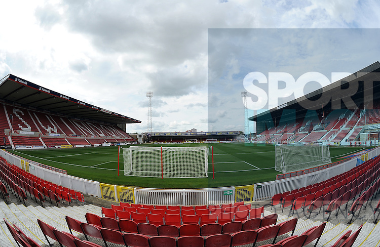 A general view of the County Ground, home stadium of Swindon Town FC<br /> - English League One - Swindon Town vs Sheffield Utd - County Ground Stadium - Swindon - England - 29th August 2015 <br /> --------------------
