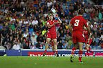 Glasgow 2014 Commonwealth Games<br /> James Davies<br /> Wales v Samoa<br /> Ibrox Stadium<br /> <br /> 26.07.14<br /> &copy;Steve Pope-SPORTINGWALES