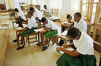 "Afrika Tansania Bagamoyo .Jugendliche in Schule für Berufsausbildung - Bildung Kinder lernen Beruf Jugend Arbeit xagndaz | .Africa Tanzania Bagamoyo .young people in school for vocational training - youth education school learn teach profession development work .| [ copyright (c) Joerg Boethling / agenda , Veroeffentlichung nur gegen Honorar und Belegexemplar an / publication only with royalties and copy to:  agenda PG   Rothestr. 66   Germany D-22765 Hamburg   ph. ++49 40 391 907 14   e-mail: boethling@agenda-fototext.de   www.agenda-fototext.de   Bank: Hamburger Sparkasse  BLZ 200 505 50  Kto. 1281 120 178   IBAN: DE96 2005 0550 1281 1201 78   BIC: ""HASPDEHH"" ,  WEITERE MOTIVE ZU DIESEM THEMA SIND VORHANDEN!! MORE PICTURES ON THIS SUBJECT AVAILABLE!! ] [#0,26,121#]"