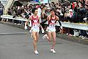 (L to R) Suguru Osako (Waseda-Univ), Shota Hiraga (Waseda-Univ), JANUARY 2, 2012 - Athletics : The 88th Hakone Ekiden Race the Tsurumi Relay place in Kanagawa, Japan. (Photo by Atsushi Tomura/AFLO SPORT) [1035].
