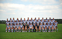 The Bath Rugby squad pose for a team photo. Bath Rugby Media Day on August 27, 2013 at Farleigh House in Bath, England. Photo by: Patrick Khachfe/Onside Images
