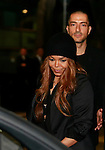 Janet Jackson and Wissam Al Mana leave the Giorgio Armani 40th Anniversary fashion show and Silos Opening one day before Expo 2015, in Milan on April 30, 2015.