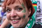 01.09.2019, wohninvest Weserstadion, Bremen, GER, 1.FBL, Werder Bremen vs FC Augsburg, <br /> <br /> DFL REGULATIONS PROHIBIT ANY USE OF PHOTOGRAPHS AS IMAGE SEQUENCES AND/OR QUASI-VIDEO.<br /> <br />  im Bild<br /> <br /> Fa Moni mit Glitzer und Raute in der Ostkurve<br /> <br /> <br /> Foto © nordphoto / Kokenge