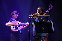 LONDON, ENGLAND - NOVEMBER 19: Dhafer Youssef and Ambrose Akinmusire performing at The Jazz Festival at Barbican on November 19, 2016 in London, England.<br /> CAP/MAR<br /> &copy;MAR/Capital Pictures /MediaPunch ***NORTH AND SOUTH AMERICAS ONLY***