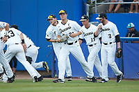 The Wake Forest Demon Deacons take the field for Game Two of the Gainesville Super Regional against the Florida Gators of the 2017 College World Series at Alfred McKethan Stadium at Perry Field on June 11, 2017 in Gainesville, Florida.  (Brian Westerholt/Four Seam Images)
