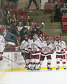 Desmond Bergin (Harvard - 37), Clay Anderson (Harvard - 5)Colin Blackwell,Harvard University, Crimson,Luke Esposito,Harvard University, Crimson, - The Harvard University Crimson defeated the visiting Rensselaer Polytechnic Institute Engineers 5-2 in game 1 of their ECAC quarterfinal series on Friday, March 11, 2016, at Bright-Landry Hockey Center in Boston, Massachusetts.