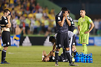 17th November 2019; Bezerrao Stadium, Brasilia, Distrito Federal, Brazil; Final FIFA U-17 World Cup Final match 2019, Mexico versus Brazil; Players of Mexico look dejected after their 2-1  defeat to Brazil after the match