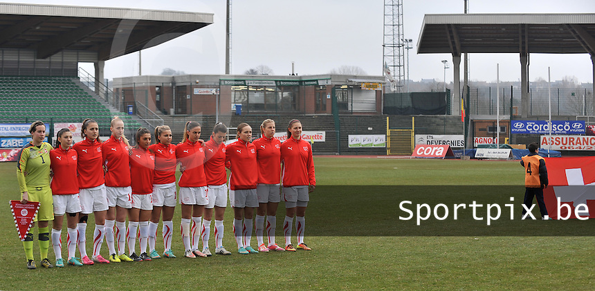 Belgium U19 - Switzerland U19 : Swiss Team.foto DAVID CATRY / Nikonpro.be