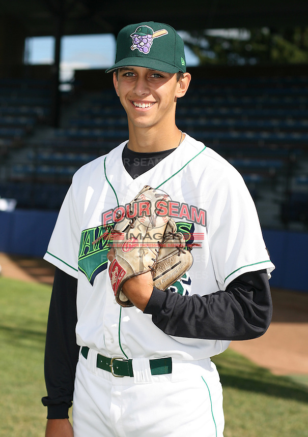 Steve Cishek of the Jamestown Jammers, Class-A affiliate of the Florida Marlins, during New York-Penn League baseball action.  Photo by Mike Janes/Four Seam Images