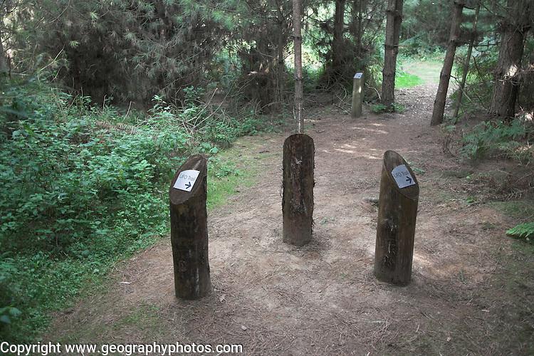 UFO landing site, Rendlesham forest, Suffolk, England