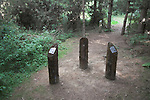 UFO landing site, Rendlesham forest, Suffolk, England
