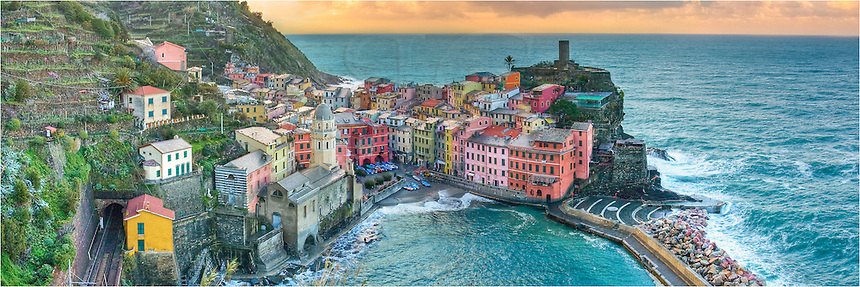 This Vernazza panorama was a stitch of two images taken from just above the village. In the Cinque Terre, it is hard to take a bad picture!