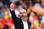 13.09.2019, Paleis 12, BrŸssel / Bruessel<br />Volleyball, Europameisterschaft, Belgien (BEL) vs. …sterreich / Oesterreich (AUT)<br /><br />Jubel Michael Warm (Trainer / Coach AUT)<br /><br />  Foto © nordphoto / Kurth