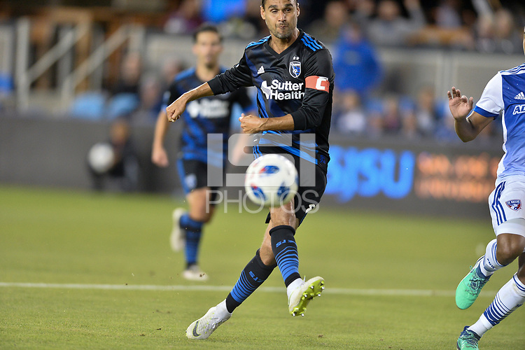 San Jose, CA - Wednesday August 29, 2018: Chris Wondolowski during a Major League Soccer (MLS) match between the San Jose Earthquakes and FC Dallas at Avaya Stadium.