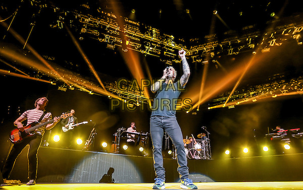 LAS VEGAS, NV - December 30, 2015: ***HOUSE COVERAGE*** Maroon 5 performs at The Mandalay Bay Events Center at Mandalay Bay in Las vegas, NV on December 30, 2015. <br /> CAP/MPI/EKP<br /> &copy;EKP/MPI/Capital Pictures