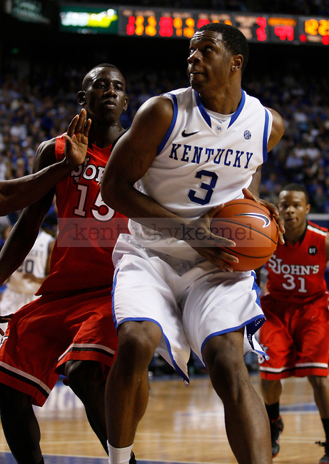 Terrence Jones goes to take a shot in the game against St. Johns University at Rupp Arena, in Lexington, Ky., on Thursday, Dec. 1, 2011. Jones finished with 26 points in 32 minutes of play. Photo by Latara Appleby | Staff ..