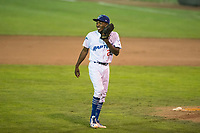 Ogden Raptors relief pitcher Luis Pasen (22) during a Pioneer League game against the Great Falls Voyagers at Lindquist Field on August 23, 2018 in Ogden, Utah. The Ogden Raptors defeated the Great Falls Voyagers by a score of 8-7. (Zachary Lucy/Four Seam Images)