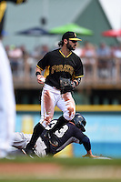 Pittsburgh Pirates infielder Sean Rodriguez (3) during a Spring Training game against the New York Yankees on March 5, 2015 at McKechnie Field in Bradenton, Florida.  New York defeated Pittsburgh 2-1.  (Mike Janes/Four Seam Images)