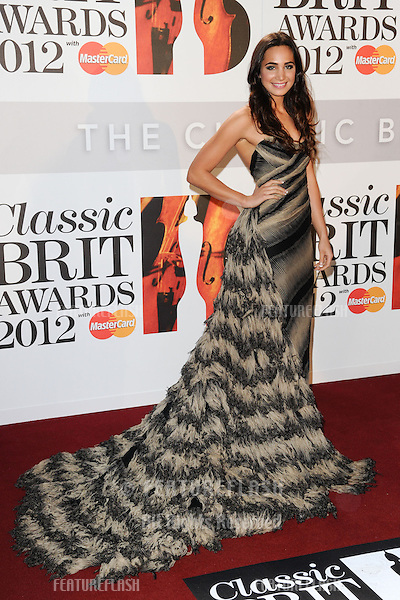 Laura Wright arriving for the Classic Brit Awards 2012 at the Royal Albert Hall, London. 02/10/2012 Picture by: Steve Vas / Featureflash
