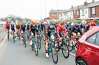 Picture by Allan McKenzie/SWpix.com - 15/04/18 - Cycling - HSBC UK British Cycling Spring Cup Road Series - Chorley Grand Prix 2018 - Chorley, England - The Chorley GP rolls out.