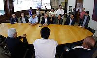 SAO PAULO, SP, 22 DEZEMBRO 2012 - O ministro do Esporte, Aldo Rebelo e o prefeito Gilberto Kassab assina na manha deste sabado, 22. um Protocolo de Intençoes entre o Ministerio do Esporte e a prefeitura de São Paulo para o desenvolvimento do esporte de alto rendimento da capital paulista, tendo como meta a Copa do Mundo FIFA 2014 e os Jogos Olimpicos e Paralimpicos Rio 2016. FOTO: VANESSA CARVALHO - BRAZIL PHOTO PRESS.