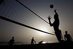 Volleyball players in Canteras Beach. Las Palmas de Gran Canaria. ©Juan Naharro Gimenez
