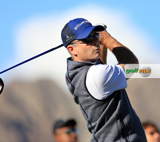 Kevin Streelman (USA) tees off the 1st tee during Saturday's Round 3 of the 2017 CareerBuilder Challenge held at PGA West, La Quinta, Palm Springs, California, USA.<br /> 21st January 2017.<br /> Picture: Eoin Clarke | Golffile<br /> <br /> <br /> All photos usage must carry mandatory copyright credit (&copy; Golffile | Eoin Clarke)