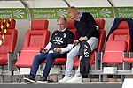 Stefan REUTER (Manager FC Augsburg) und Heiko HERRLICH  (Trainer FC Augsburg) nach Spielende und mit T-Shirts la Decima zum Klassenerhalt.<br /><br />Fussball 1. Bundesliga, 33.Spieltag, Fortuna Duesseldorf (D) -  FC Augsburg (A), am 20.06.2020 in Duesseldorf/ Deutschland. <br /><br />Foto: AnkeWaelischmiller/Sven Simon/ Pool/ via Meuter/Nordphoto<br /><br /># Editorial use only #<br /># DFL regulations prohibit any use of photographs as image sequences and/or quasi-video #<br /># National and international news- agencies out #