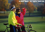 Couple biking, Valley Forge National Historical Park, Montgomery Co., King of Prussia, PA