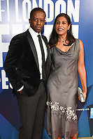 Adrian Lester and Lolita Chakrabarti<br /> arriving for the 2017 London Film Festival Awards at Banqueting House, London<br /> <br /> <br /> ©Ash Knotek  D3336  14/10/2017