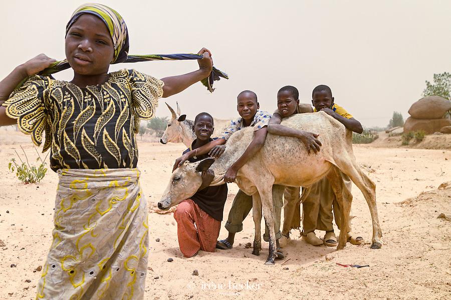 Posing Children. Kaita, Katsina State, Nigeria.