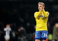Leeds United's Samu Saiz applauds the fans at the final whistle <br /> <br /> Photographer David Shipman/CameraSport<br /> <br /> The EFL Sky Bet Championship - West Bromwich Albion v Leeds United - Saturday 10th November 2018 - The Hawthorns - West Bromwich<br /> <br /> World Copyright © 2018 CameraSport. All rights reserved. 43 Linden Ave. Countesthorpe. Leicester. England. LE8 5PG - Tel: +44 (0) 116 277 4147 - admin@camerasport.com - www.camerasport.com