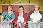 Margaret O'Connell, Mary Kissane and Kathleen O'Connell sharing a cup of tea and a chat at the Listry Gathering on Sunday